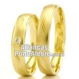 Aliança casamento barata Rs