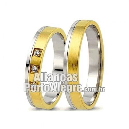 Alianças  de noivado e casamento ouro 18k e prata  Porto Alegre