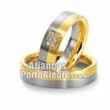 Aliança de noivado em ouro 18K Rs