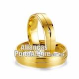 Alianças Porto Alegre em Ouro 18k