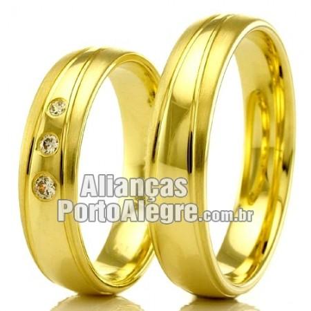 Alianças em ouro 18k para casamento Porto Alegre