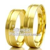 Alianças Porto Alegre em ouro 18k para casamento