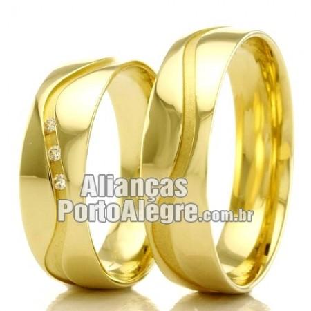Alianças em ouro 18k 750 Porto Alegre