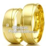 Alianças em ouro 18k RS