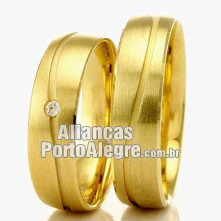 Aliança Porto Alegre em ouro casamento