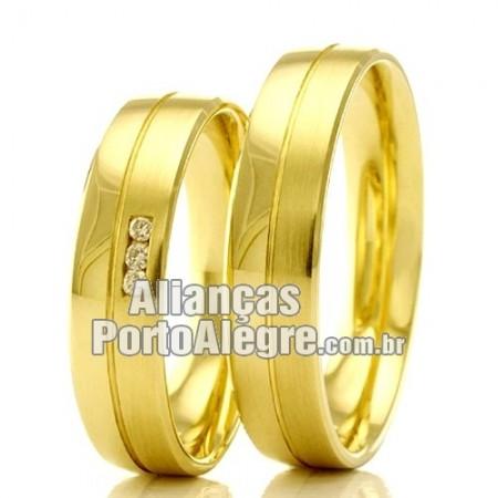 Alianças em ouro para casamento RS