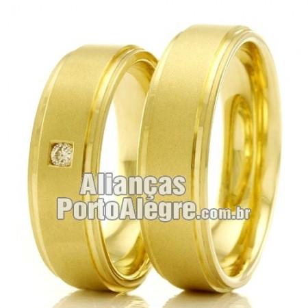 Alianças em ouro para casamento e noivado Rs