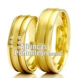 Alianças Rs em ouro 18k